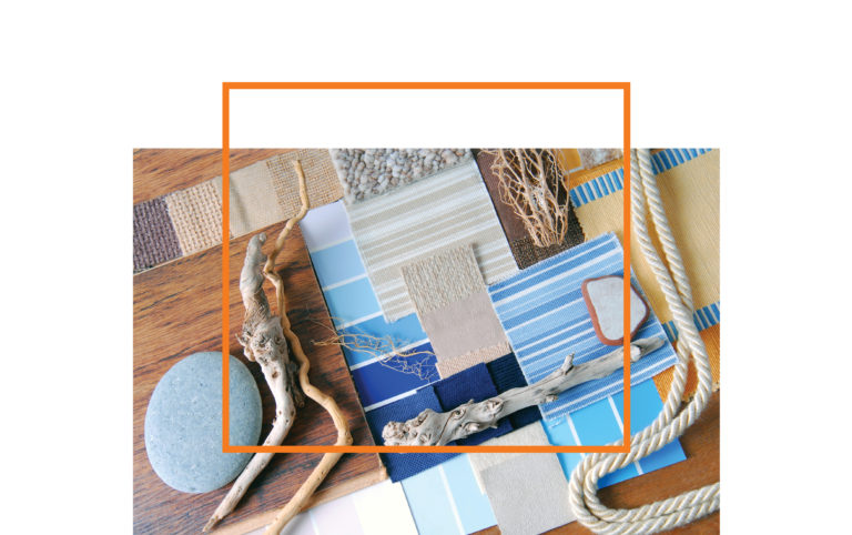 interior design color and concept beach life